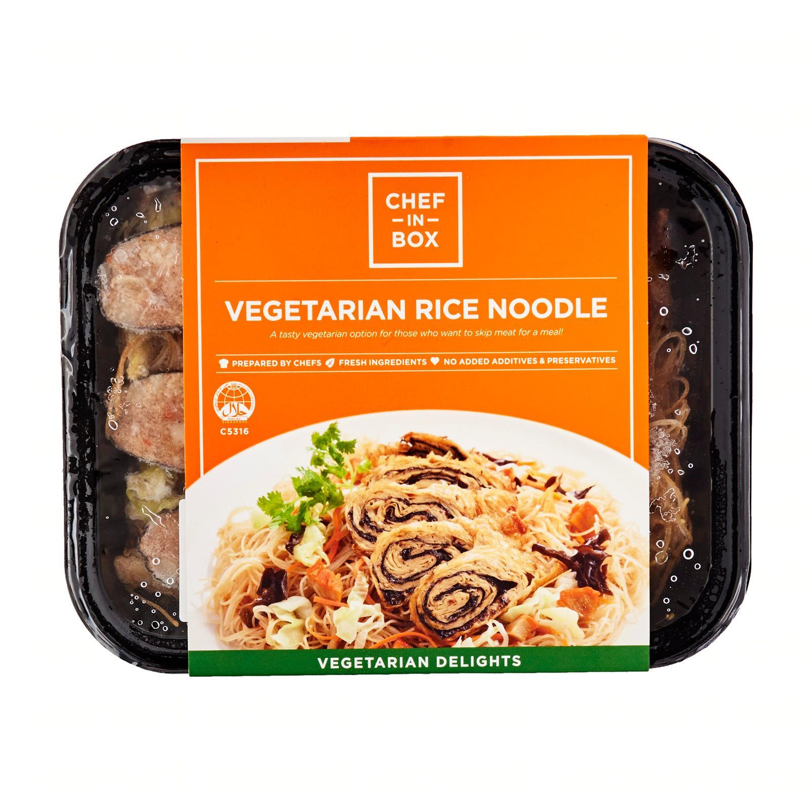Chef-in-Box Vegetarian Rice Noodles - Frozen