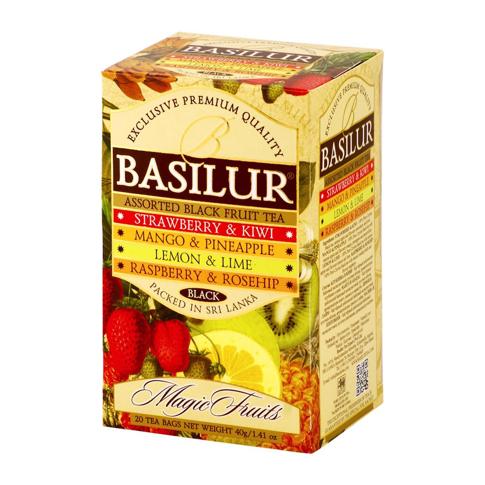 Basilur Tea Magic Fruits Assorted Black Tea