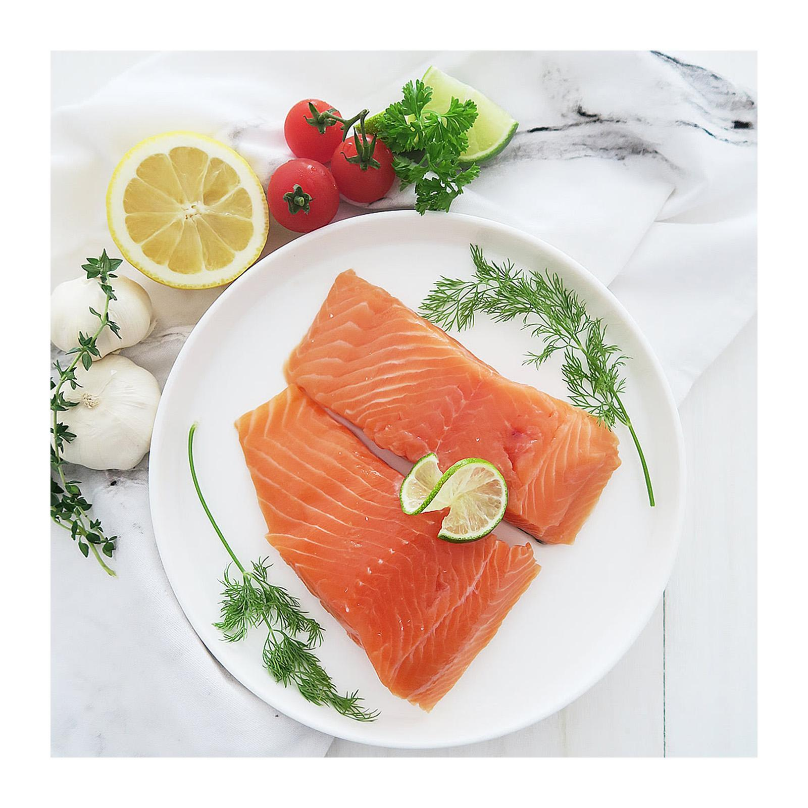 Sashas Fine Foods Salmon Skin-On 2 Portions - Frozen By Redmart.