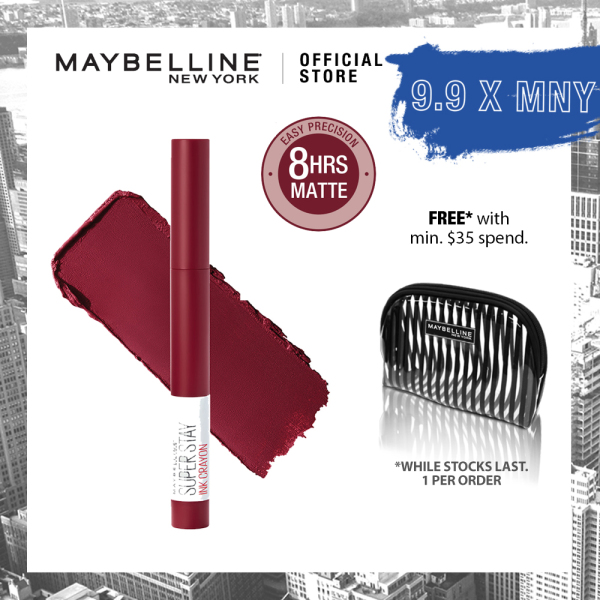 Buy Maybelline Superstay Ink Crayon Matte Longwear Lipstick Singapore