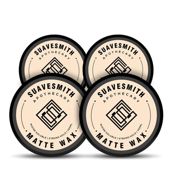 Buy Suavesmith Matte Wax 4 Pack [Mens Grooming Hair Wax] [Hair Clay] Singapore