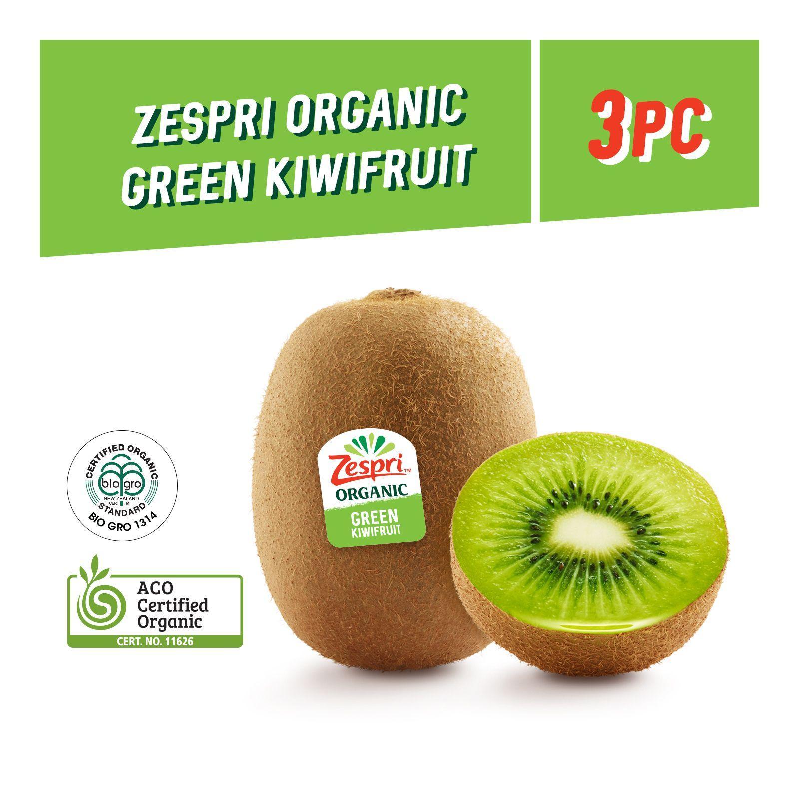 Zespri Organic Green Kiwi 3s
