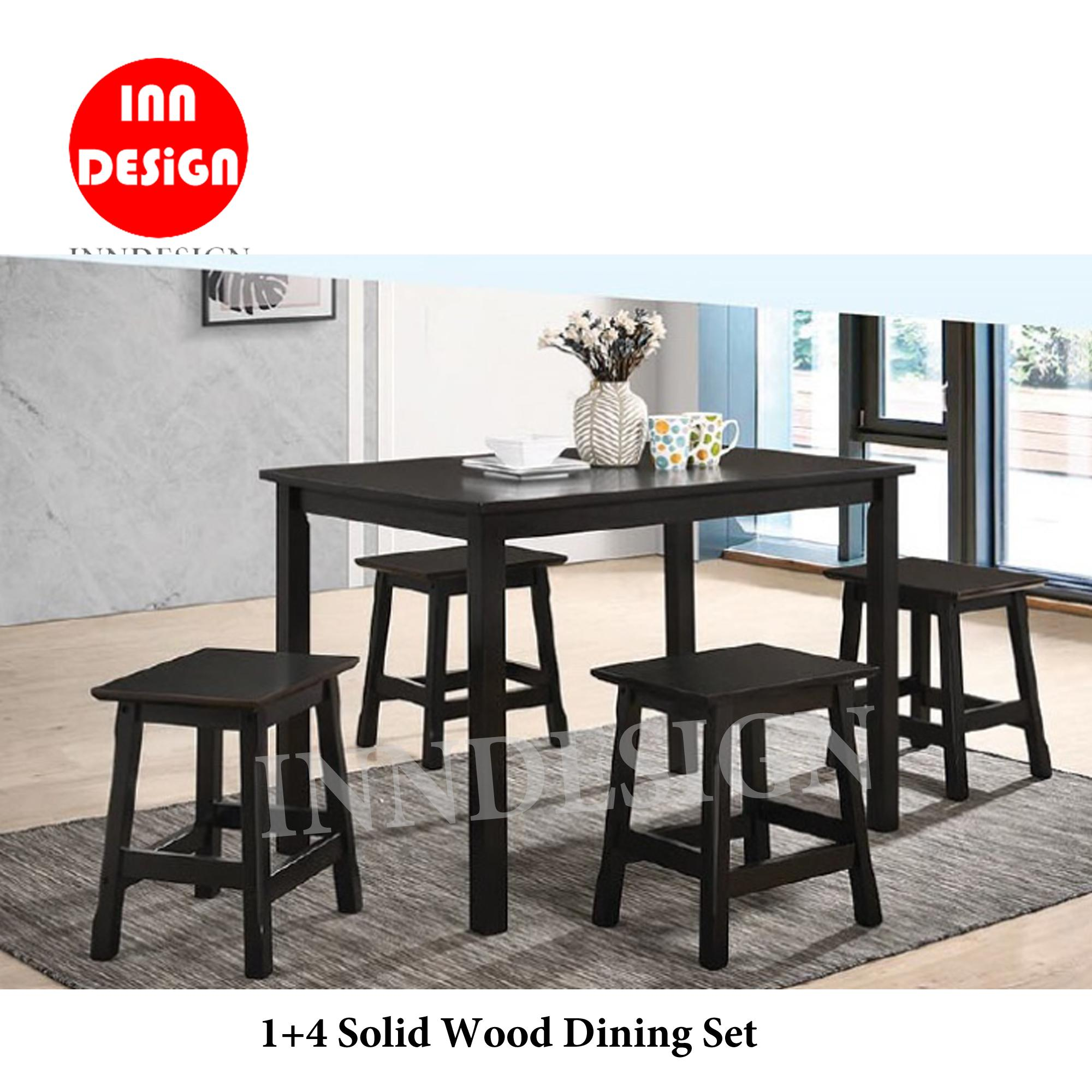 1+4 Solid Wood Structure Dining Set