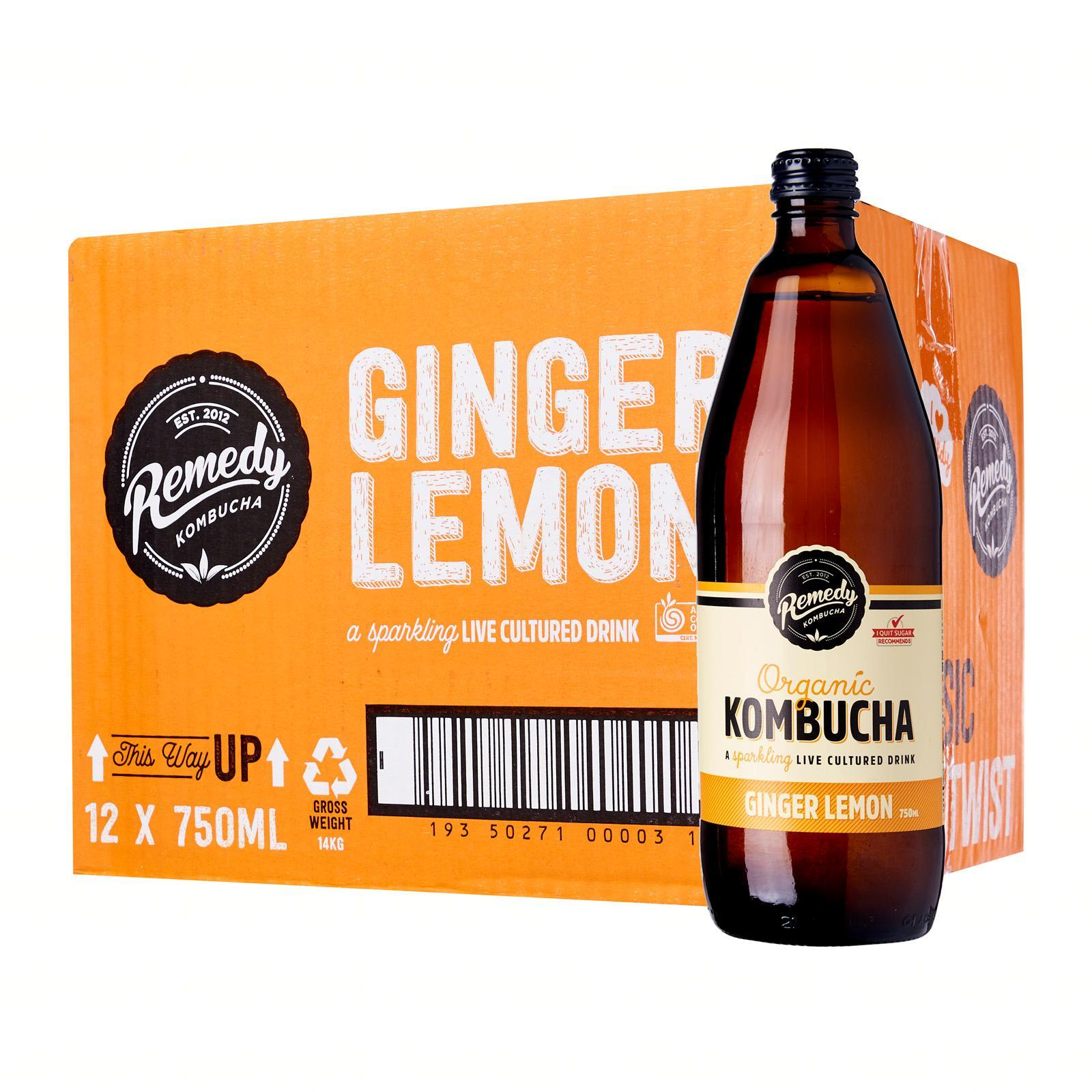 Remedy Organic Kombucha Ginger Lemon - Case