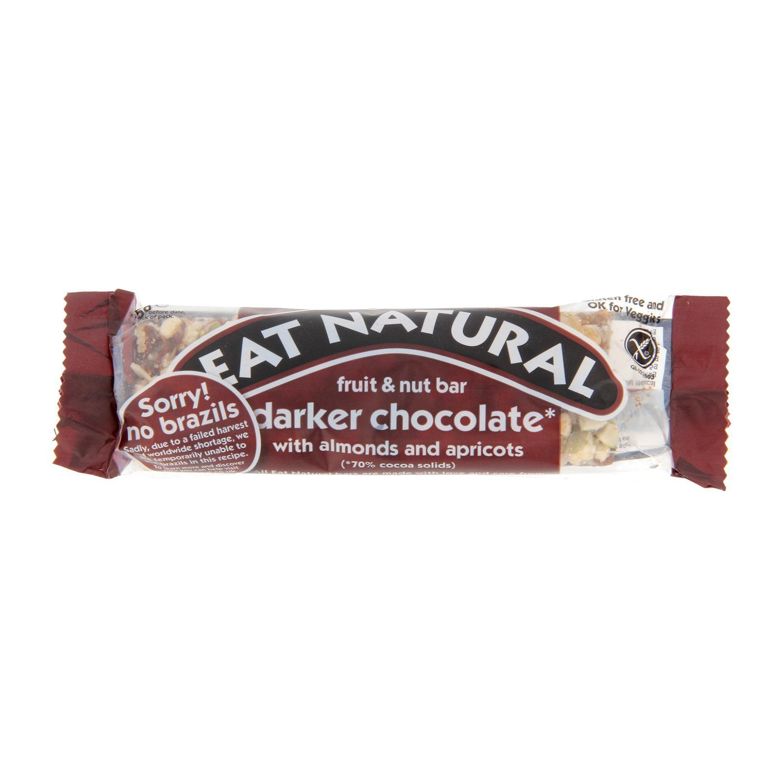 Eat Natural With Dark 70% Chocolate Brazils And Apricots Bar (45G) - By Wholesome Harvest