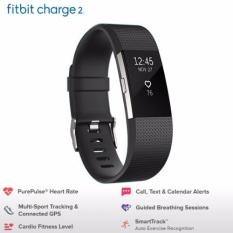 Review Fitbit Charge 2 Heart Rate Fitness Wristband Black Large Singapore