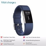Get Cheap Fitbit Charge 2 Heart Rate Fitness Wristband Blue Small