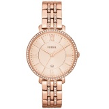 Best Fossil Es3546 Jacqueline Rose Gold Stainless Steel Analog Ladies Casual Watch