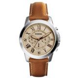 Fossil Fs5118 Grant Chronograph Analog Brown Leather Men S Watch Cheap