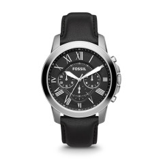 Buy Fossil Grant Chronograph Men S Black Leather Strap Watch Fs4812 Cheap Singapore