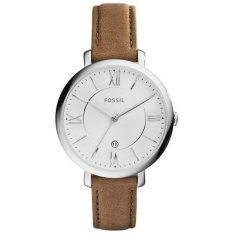 Deals For Fossil Jacqueline Silver Dial Women S Tan Leather Strap Watch Es3708
