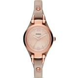 Promo Fossil Ladies Georgia Mini Sand Leather Watch Es3262