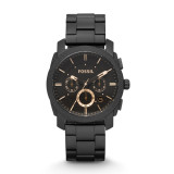 Review Fossil Machine Mid Size Chronograph Black Stainless Steel Watch Fs4682 On Singapore