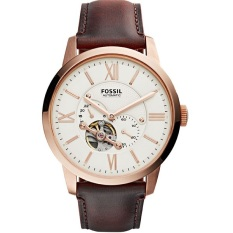 Compare Prices For Fossil Me3105 Townsman Automatic Analog Brown Leather Watch