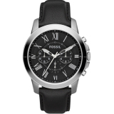 Fossil Men S Grant Chronograph Black Leather Watch Fs4812 Review