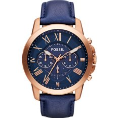 Who Sells Fossil Men S Grant Chronograph Navy Leather Watch Fs4835