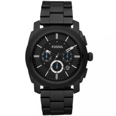 Best Buy Fossil Mens Machine Black Stainless Steel Chronograph Watch Fs4552