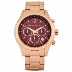 For Sale French Connection Ladies Multifunction Rose Gold Stainless Steel Bracelet Brown Dial