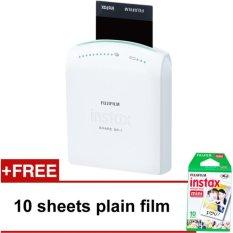 Buy Fujifilm Instax Share Printer White With Free 1 Pack 10Sheets Plain Film Fujifilm Instax Cheap