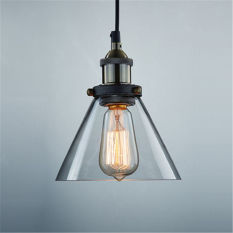 GAKTAI DIY Glass Ceiling Light Vintage Retro Chandelier Pendant Edison Lamp Lighting Lampshade With a Bulb Singapore