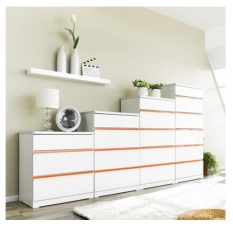 Buy Blmg Glossy Drawer 4Tier Orange Free Delivery Oem Original