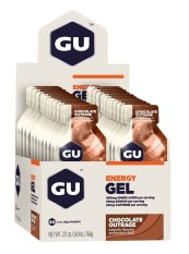 Great Deal Gu Energy Gel Chocolate Outrage 24 Pack With Free Gift