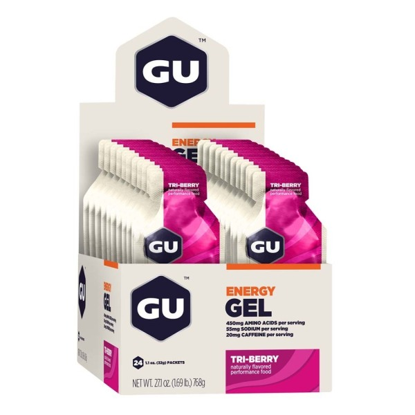 Buy Free Delivery 2-3 Days GU Energy Gel Tri-Berry 24 Pack by RacePack with FREE Energy Supplement x 1 Singapore