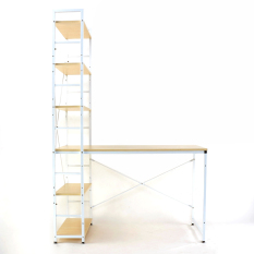 Buy Blmg H Desk Maple Beige Silver Free Delivery