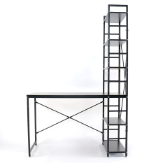 Great Deal Blmg H Desk Wanlut Black Silver Free Delivery