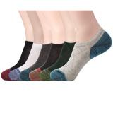 Sale Habiter Men S Cotton No Show Socks Low Cut Ankle Socks For Men Set Of 6 Multicoloured Online China