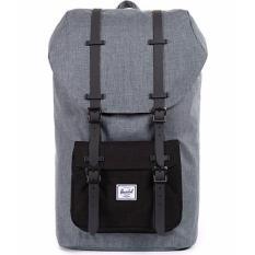 Herschel Little America Mid Volume Backpack Sctr Chrcl Black Pocket Black Rubber Shop