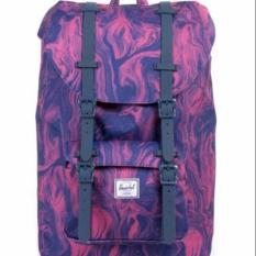Sale Herschel Supply Co Little America Purple Marble Mid Volume Herschel Supply Co Online