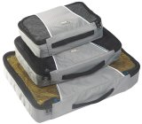 High Quality Nylon Travel Packing Cubes 3Pc Set Clothes Packing Organizer Luggage Bag In Bag Grey Lower Price