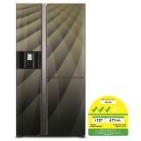 Price Comparisons For Hitachi R M700Agp4Msx Side By Side Refrigerator Dia