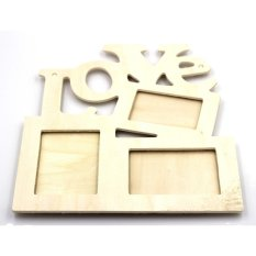 Hollow Tri-ply Wood Blank Love DIY Painting Picture Photo Frame Home Decor (EXPORT