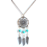 Sales Price Rosevette Hopeful Dream Catcher Necklace White Gold Plated