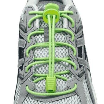 I-RUN Elastic Running Shoe Laces (Green).