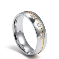Retail Stainless Steel 18K Gold Plated Cz Classical Men Ring With Zircon Fashion Jewelry Rings For Men Intl
