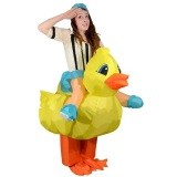 Great Deal Inflatable Duck Fan Operated *d*lt Fancy Dress Party Halloween Costume Airblwon Cosplay Outfit Jumpsuit Intl