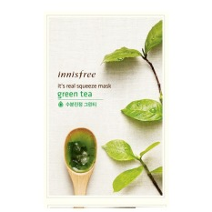 New Innisfree It S Real Squeeze Mask Green Tea Set Of 10