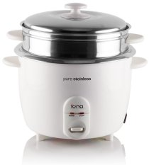 Cheap Iona Glrc181 Stainless Steel Rice Cooker With Steamer 1 8L Online