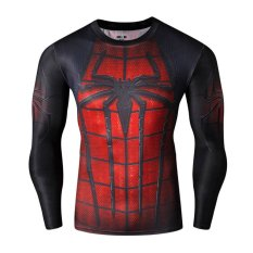Low Price J Sports Spiderman Superhero Compression Shirt Long Sleeve For Sports