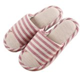Best Rated Japanese Unisex Indoor Flax Cotton Anti Skid Slipper Red