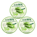 Retail Jeju Organic Soothing And Moisture Aloe Vera 95 Soothing Gel Set Of 3
