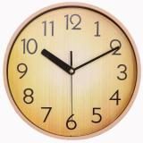 Justnile Retro Country Style Round Silent Wall Clock 10 Inch Pale Wood Brown Cheap