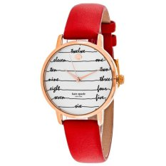 Price Kate Spade New York Women S Metro Red Leather Strap Watch 34Mm Ksw1061 Kate Spade Original