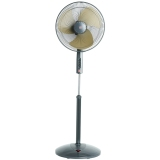 Promo Kdk P40Us Stand Fan Black With Gold Blades