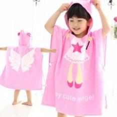 Review Kids Hooded Beach Bath Towel Animal Poncho Angel 100 Cotton On Singapore
