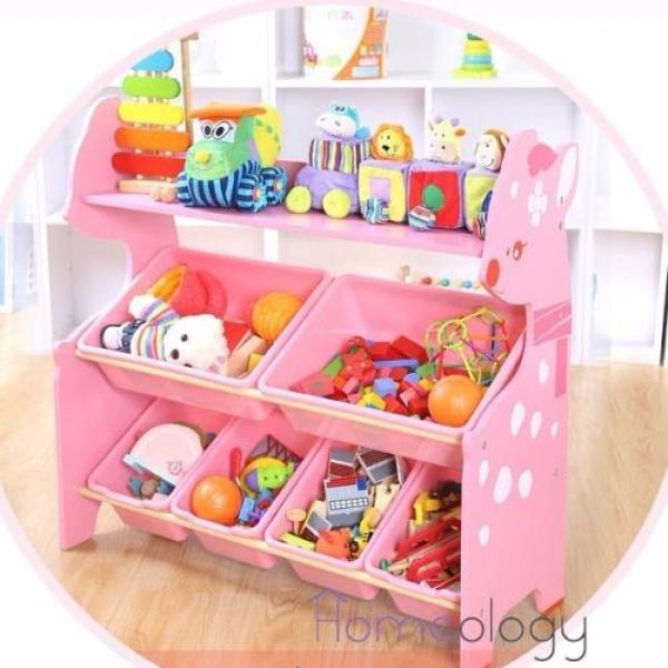 Kids Toy Rack Organizer Cabinet Storage Children Book Shelf Type B
