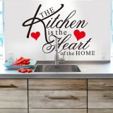 Discount Kitchen Heart Quote Removable Vinyl Wall Decal Stickers Art Mural Room Decor Hot China